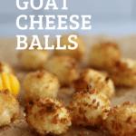 Air Fryer Goat Chees Balls