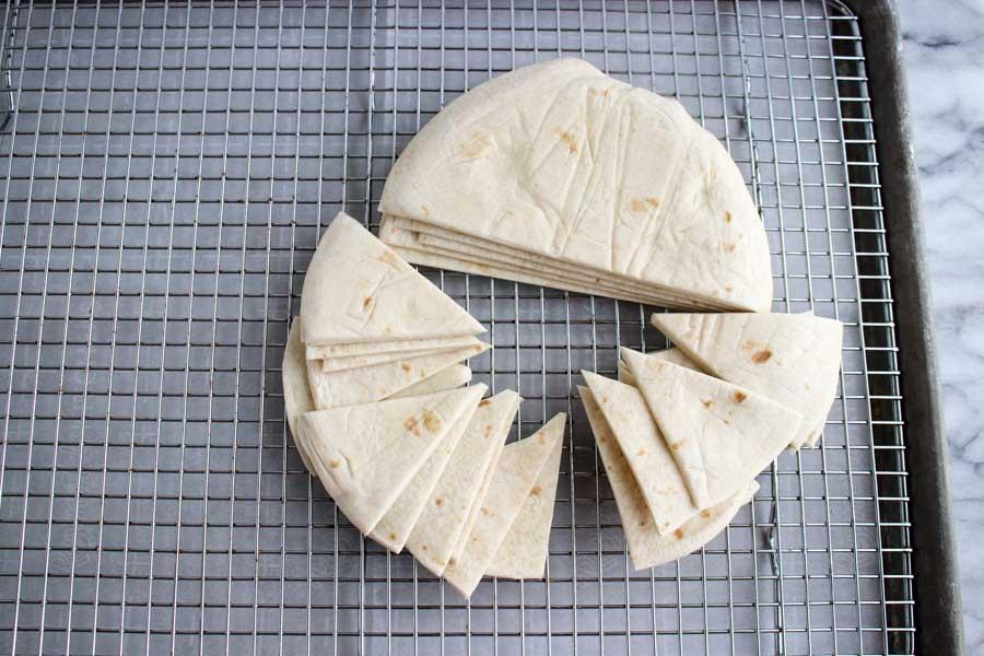 Cutting tortillas