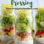 Buttermilk Salad Dressing in a jar