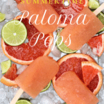 Popsicles on ice with fruit