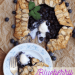 Blue Berry Galette with ice cream