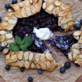 slice of blueberry galette
