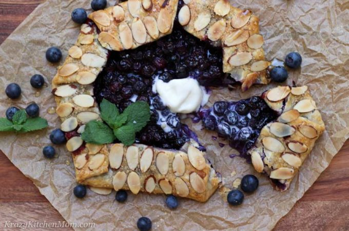 slice of blueberry galette