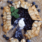 Blueberry galette and one slice