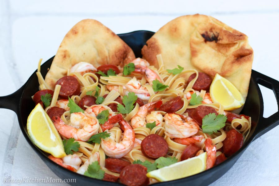 Shrimp and Chorizo Pasta