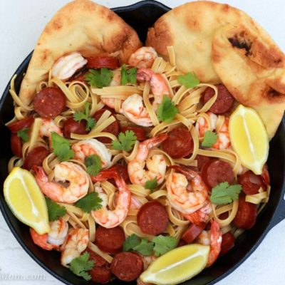 Shrimp and Chorizo Pasta