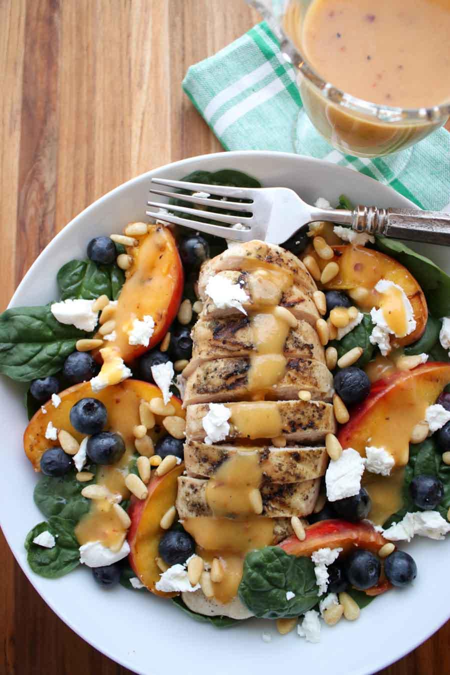 Grilled Peach Chicken Salad