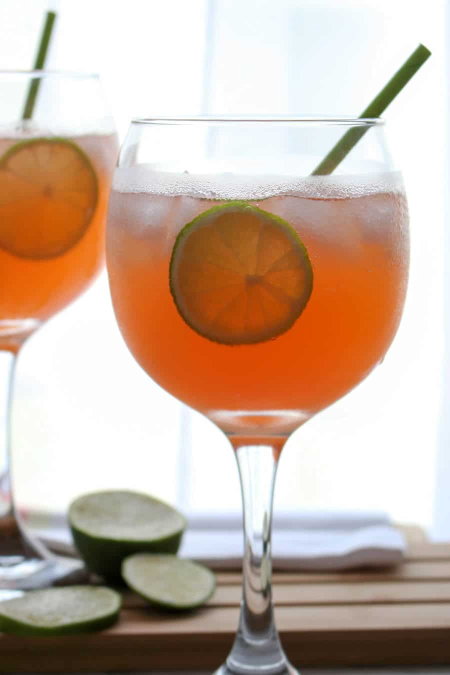 two Paloma Aperol Spritz Cocktails