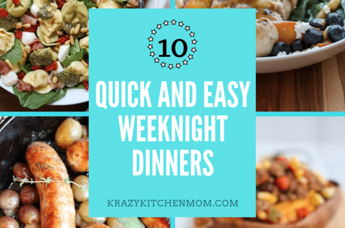 Ten Quick and Easy Weeknight Dinner Recipes