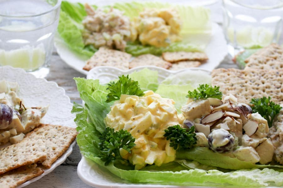 deli salad close up