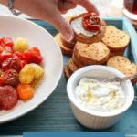 Roasted Tomato Ricotta Crostinis