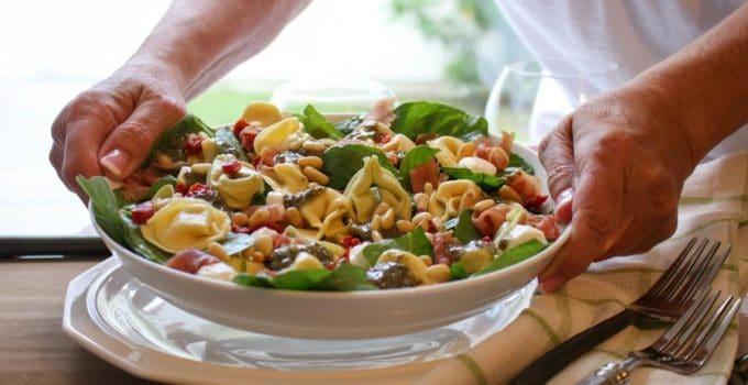 Tortellini Spinach Pasta Salad