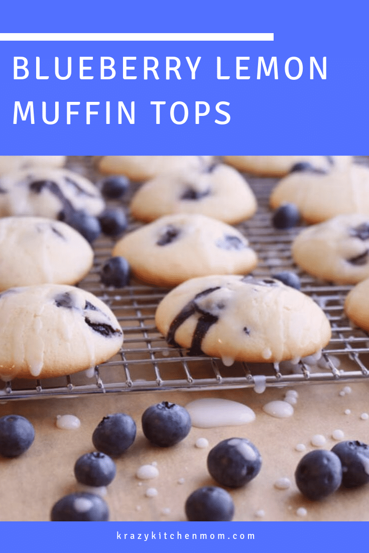 If you love the muffin top more than the entire muffin, you're going to love my Blueberry Lemon Muffin Tops! This recipe is so easy, I might not ever make full muffins again.  via @krazykitchenmom