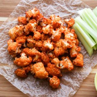 Air Fryer Buffalo Bites with celery