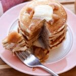 Apple Butter Pancakes with fork