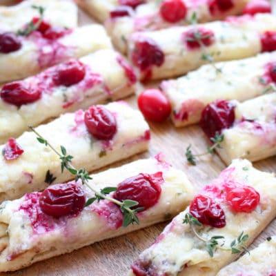 Three Cheese Cranberry Flatbread