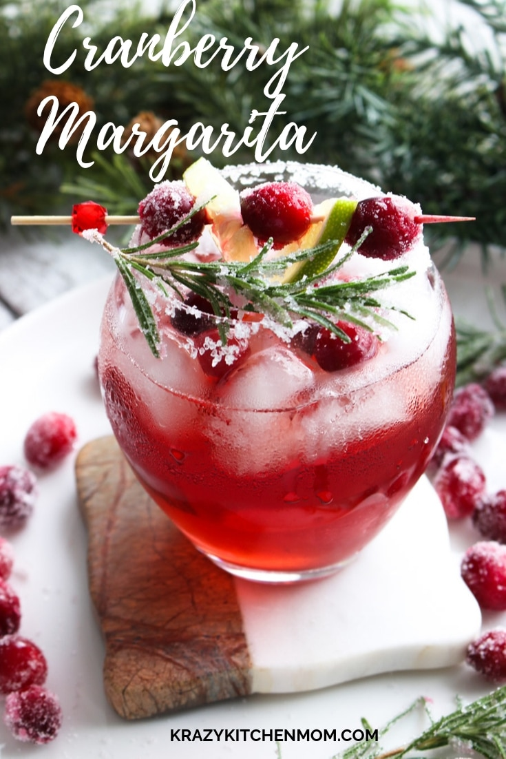 With only four ingredients Cranberry Margaritas are perfect for the holiday season. Made with Cranberry and lime juice, tequila and triple sec.  via @krazykitchenmom