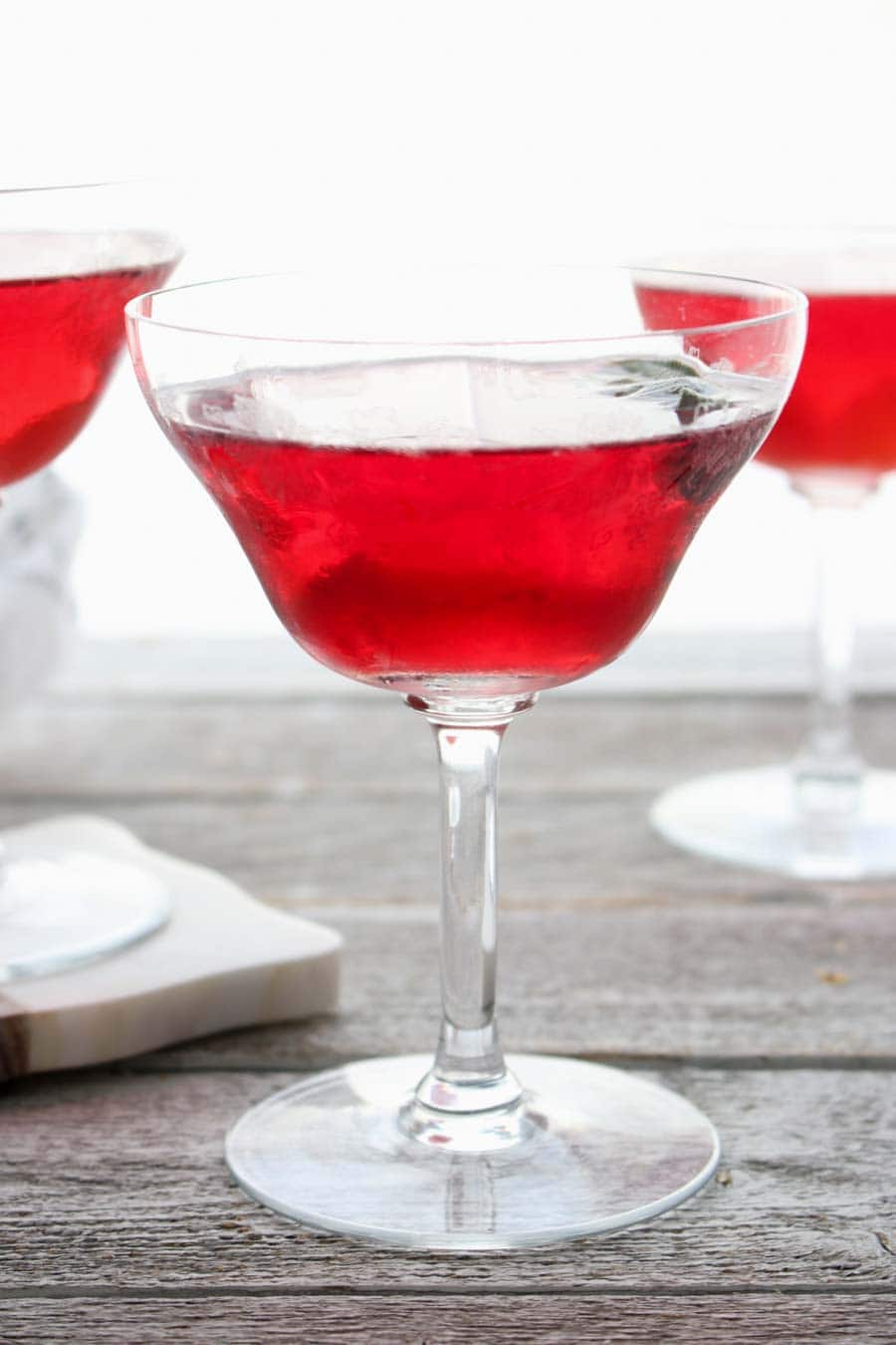 Cranberry Sage Martini very close up