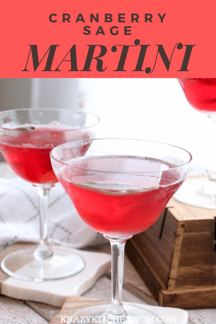 My Cranberry Sage Martini recipe has all of the flavors of fall. Bright cranberry juice, Cointreau, vodka, fresh sage, and orange peel.  via @krazykitchenmom