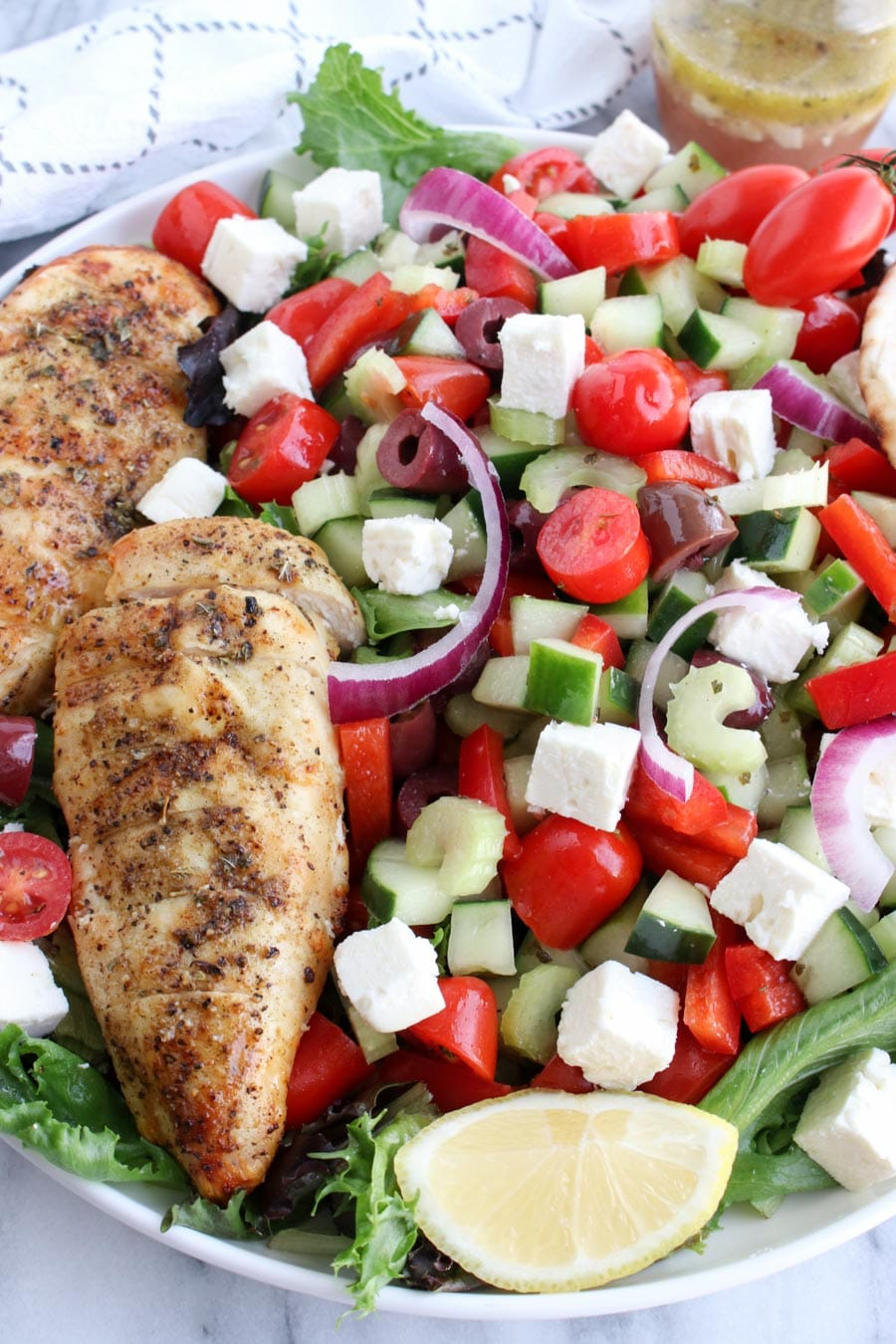 Close up Greek Salad