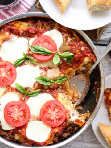 skillet lasagna cover photo