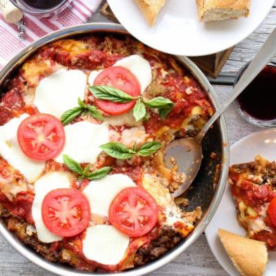 skillet lasagna cover photo