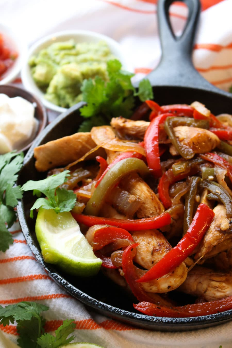 TEQUILA CHICKEN FAJITAS CLOSE UP