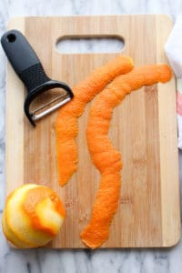 Step 1 How to make the orange peel garnish