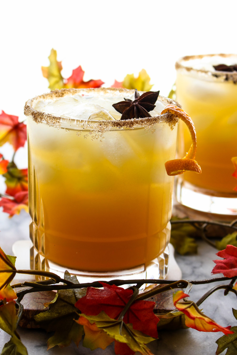 Glass of Apple Cider Margaritas