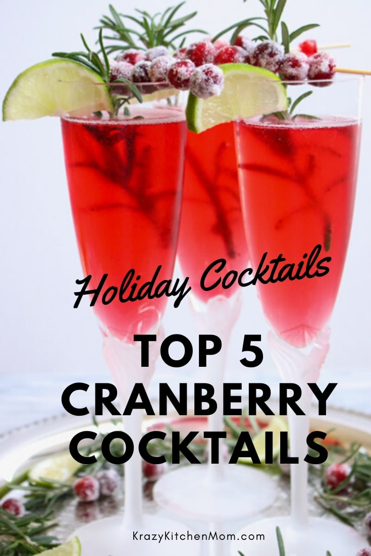Spread the holiday cheer with some of The Best Cranberry Cocktail Recipes. They are all tasty and easy to make. Your guests will love them all. via @krazykitchenmom