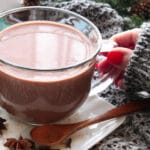 Hand holding Chai Hot Chocolate