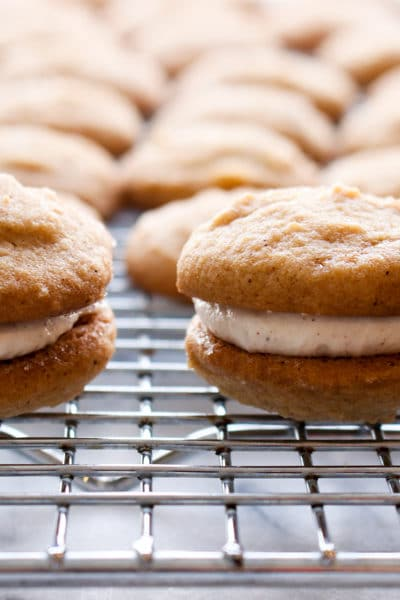 Gingerbread Sandwich Cookies with cinnamon buttercream