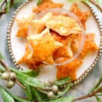 Puff Pasty cheese stars on a plate