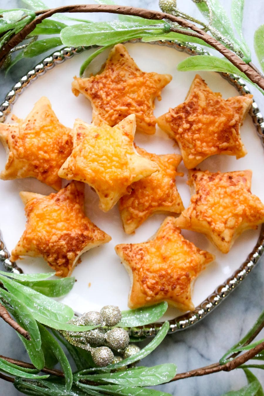 Plate of pastry stars