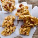 Pieces of spicy peanut brittle