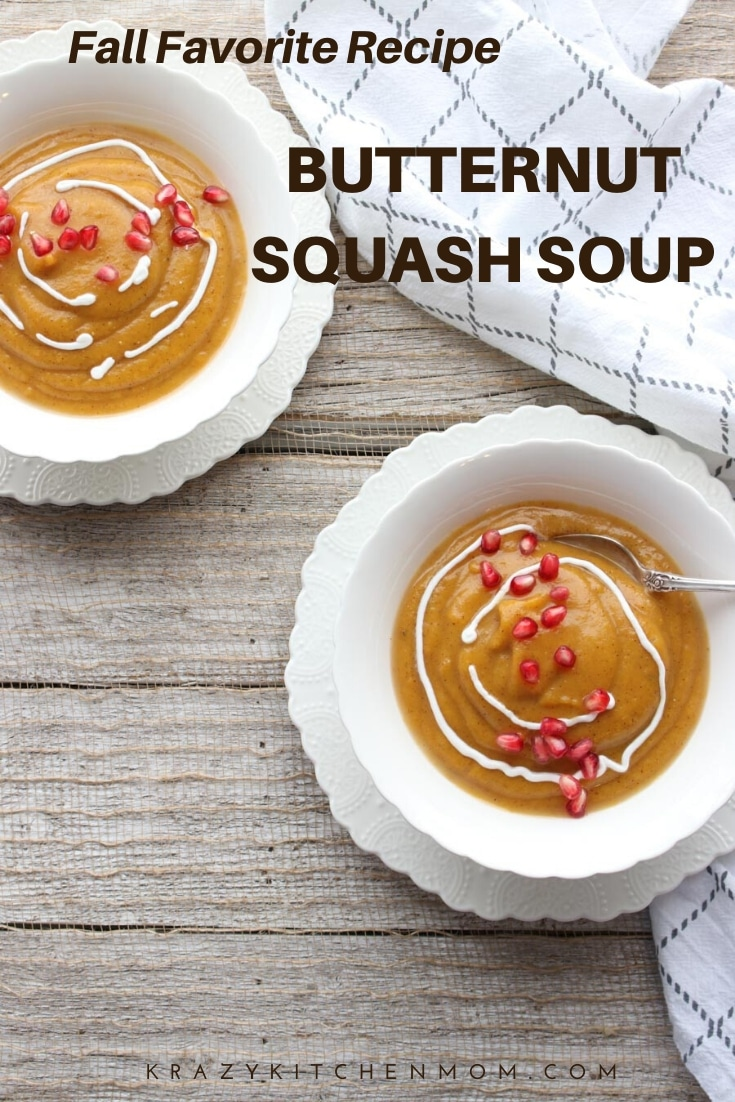 You have found the best Roasted Butternut Squash Soup recipe made without using any heavy cream or dairy. It's an easy recipe - from the oven to the blender.  via @krazykitchenmom