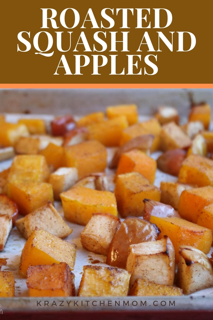 Roasted Butternut Squash and Apples are the warm aromas and tastes of fall is one dish. Simple ingredients with deep roasted flavors. via @krazykitchenmom