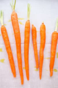 Carrots with olive oil
