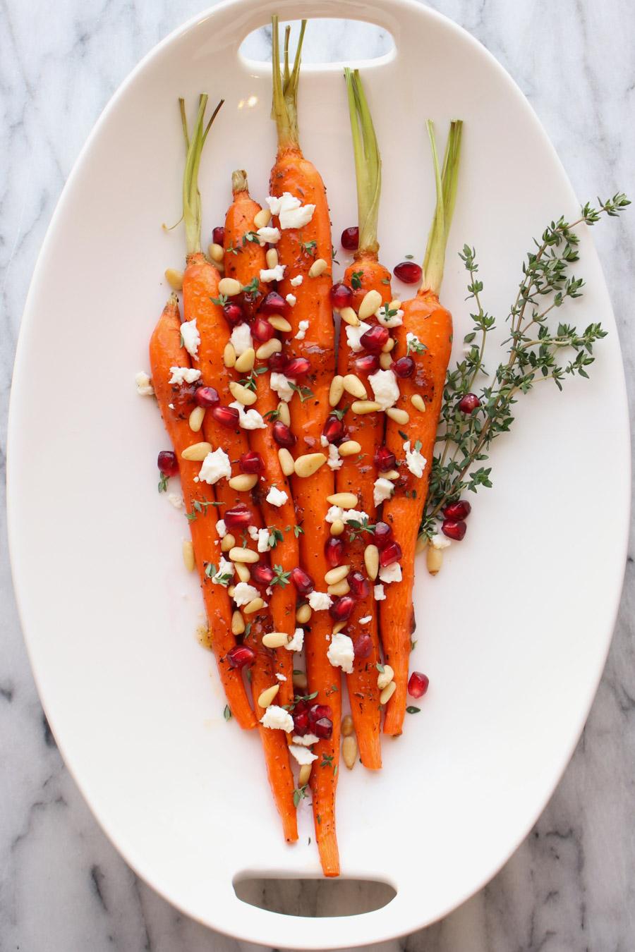Platter of Apricot Honey Glazed Carrots