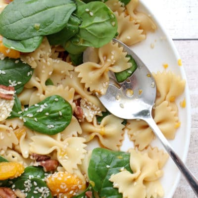 Bow Tie Spinach and Pasta Salad