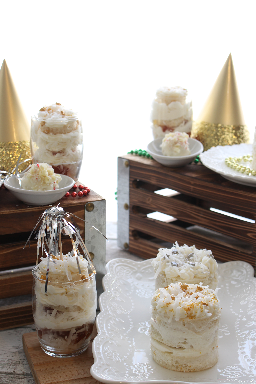NYE cakes desserts display