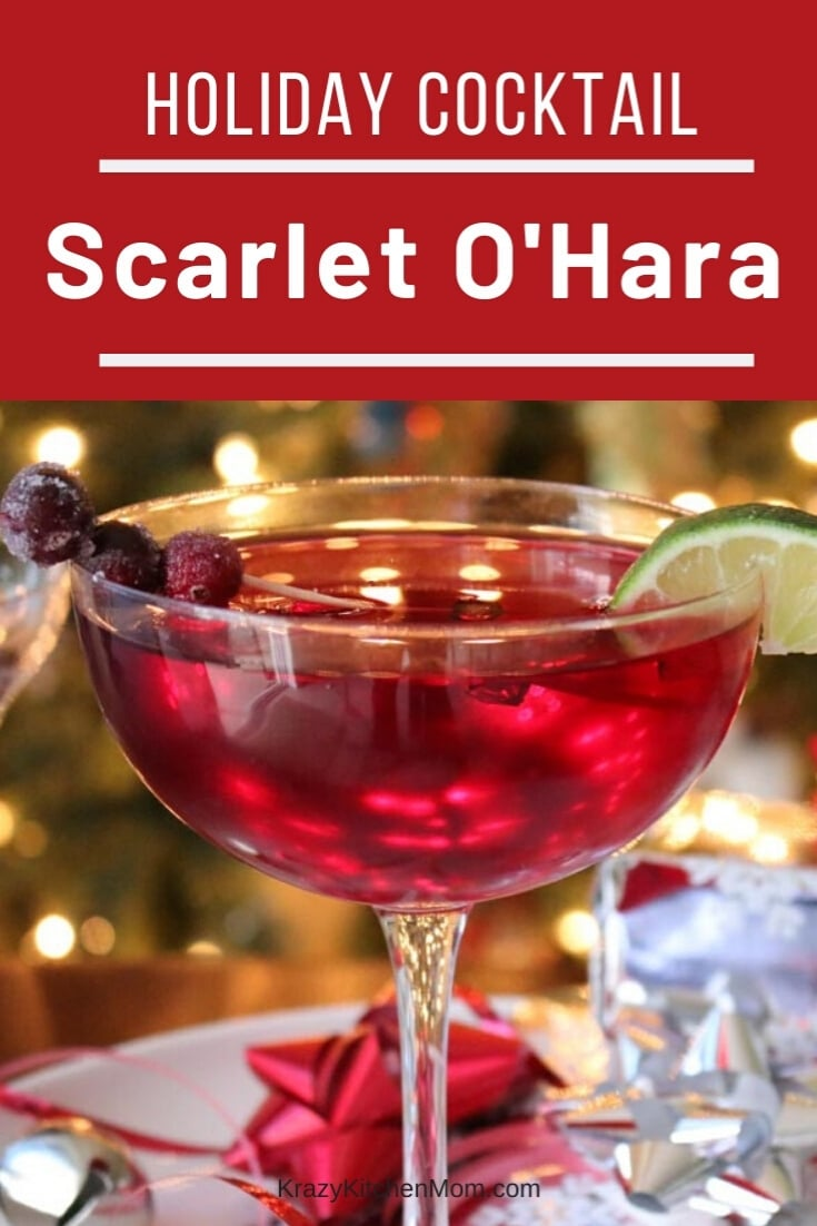 The Scarlet O'Hara Cocktail is both sweet and tart. I use Southern Comfort, cranberry juice and a bit of lime juice. That's all - three simple, but delicious ingredients. via @krazykitchenmom