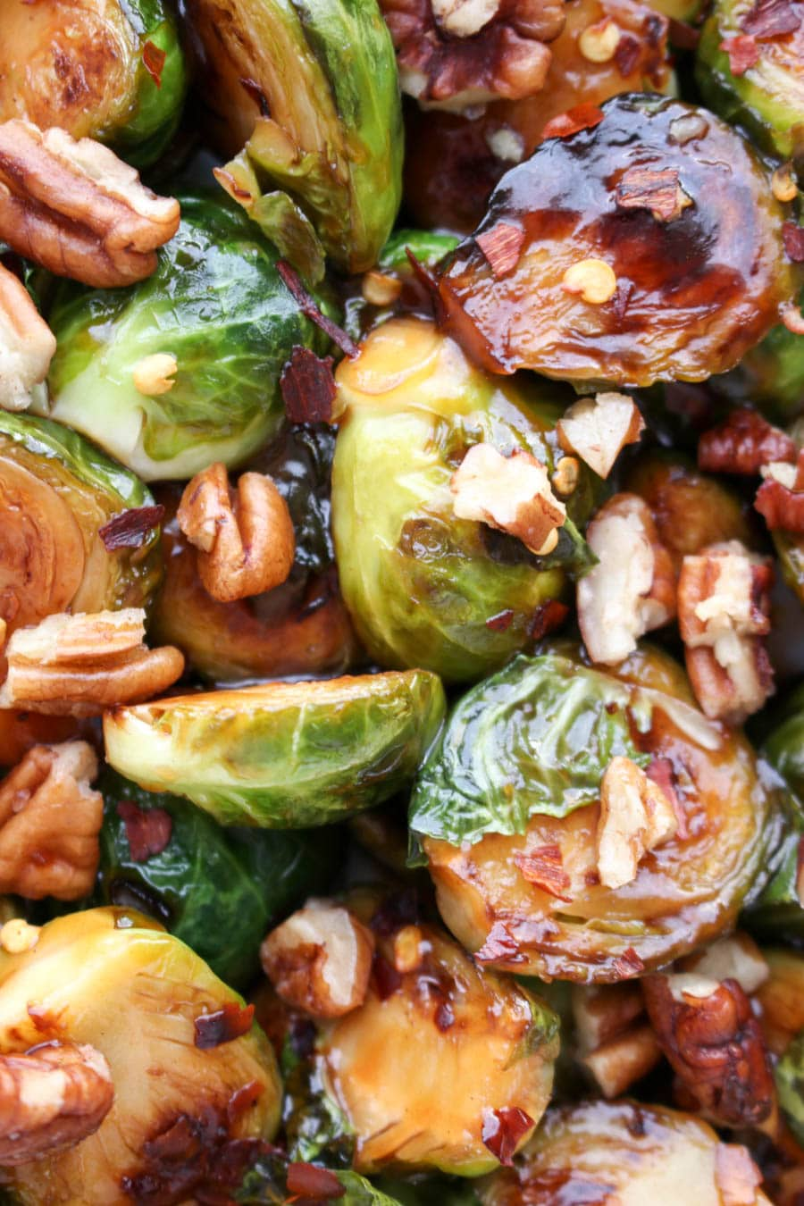 close up shot of brussels sprouts