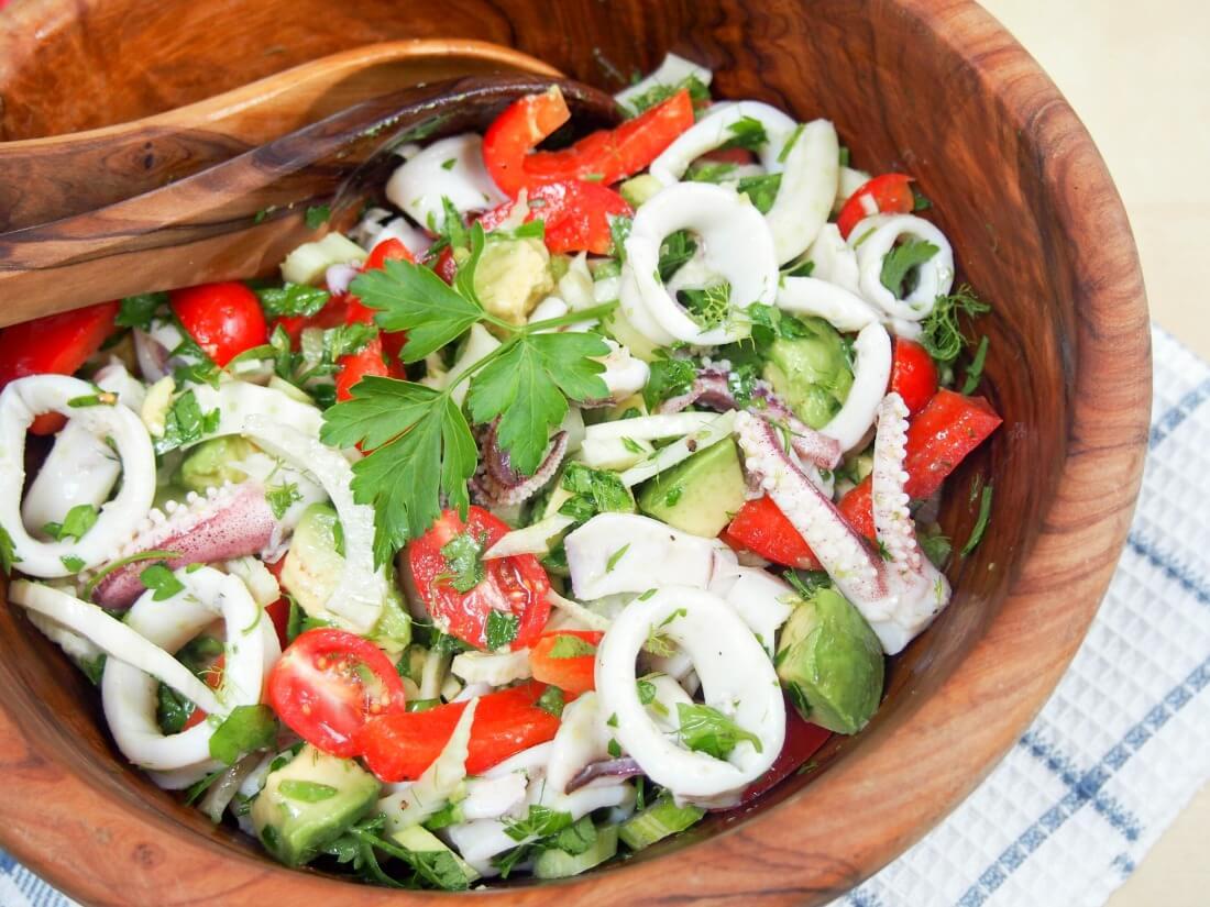 Calamari Salad with Avocado