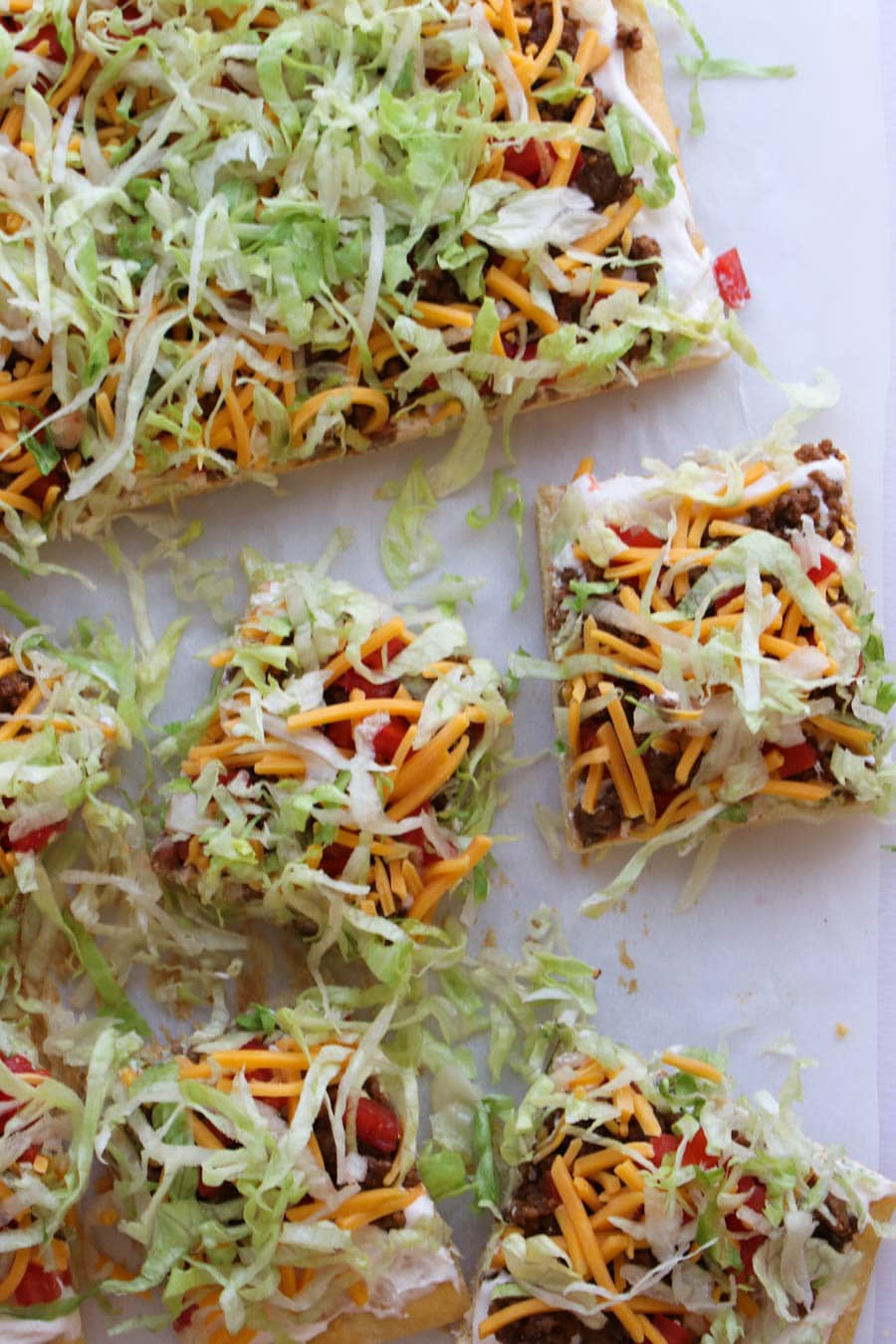 slices of taco pizza
