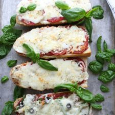4 Different french bread pizzas