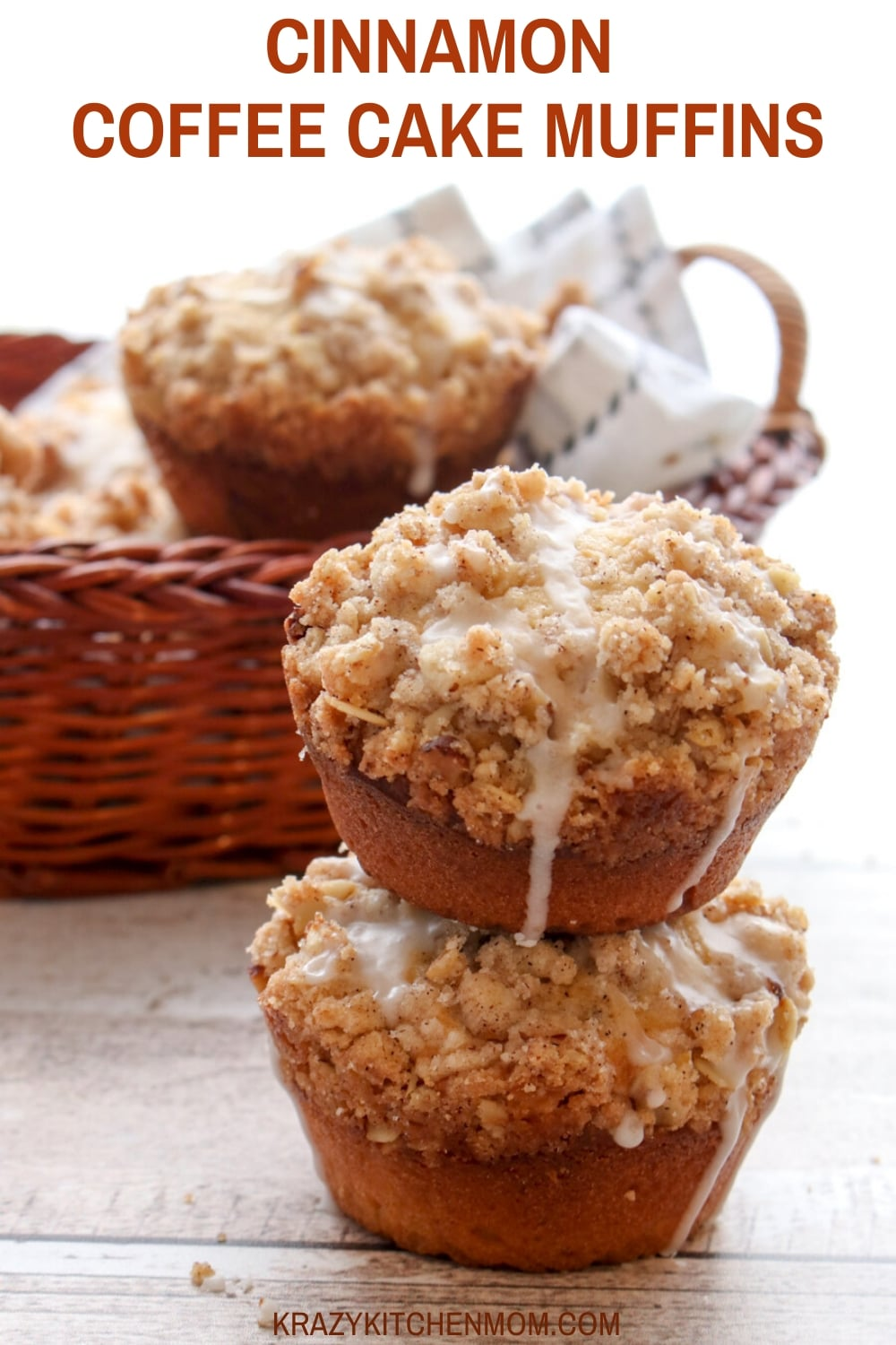 What's better than starting your day with a hot cup of coffee and a plate of warm Cinnamon Coffee Cake Muffins with a Cinnamon Streusel Topping? via @krazykitchenmom