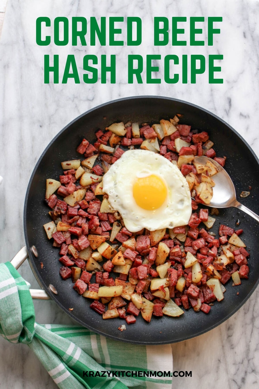 Don't know what to do with leftover corned beef? Make Homemade Corned Beef Hash. With only three main ingredients, it's an easy recipe.  via @krazykitchenmom