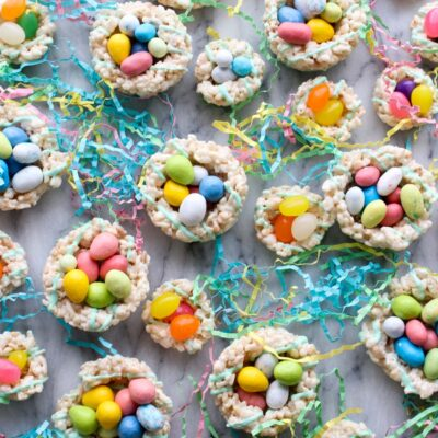 Rice Krispy Easter Egg Nests