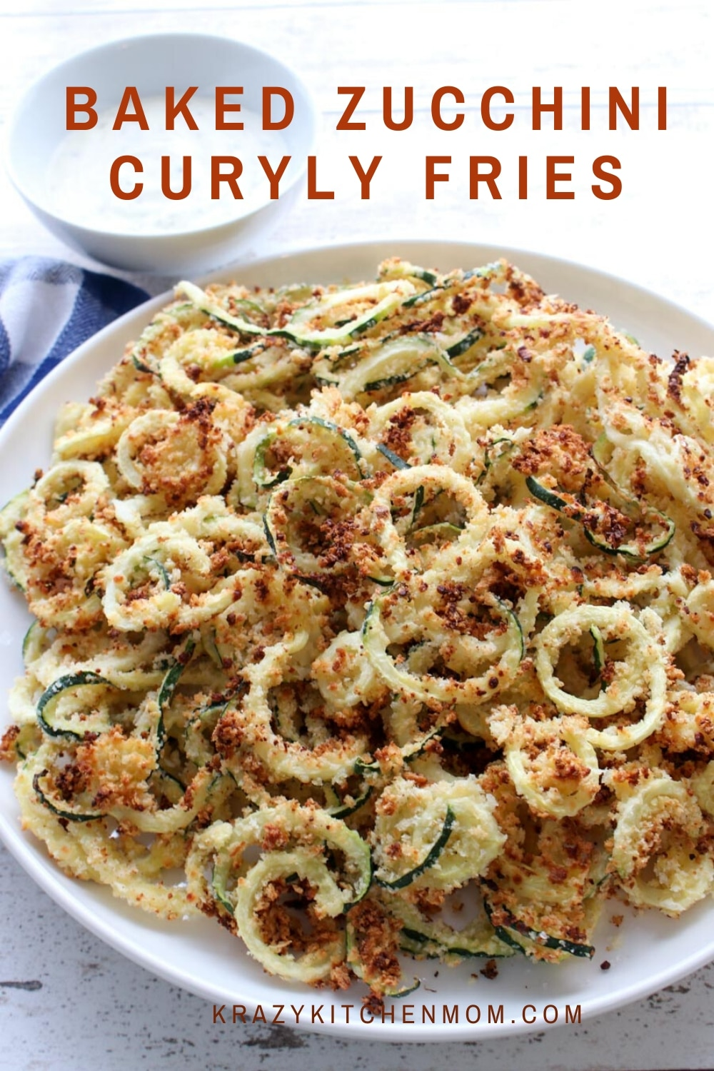These Baked Parmesan Zucchini Fries are tender, crispy, health, and a fun way to eat zucchini. They are lightly breaded in panko bread crumbs and parmesan cheese and baked to perfection.  via @krazykitchenmom